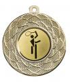 """Danke Medaille """"Gyges"""" Ø 50 mm inkl. Wunschemblem und Kordel - Farbe - gold"""