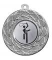"""Danke Medaille """"Gyges"""" Ø 50 mm inkl. Wunschemblem und Kordel - Farbe - silber"""