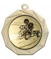 "Danke Medaille ""Kottos"" Ø 70 mm inkl. Wunschemblem und Kordel - Farbe - gold"