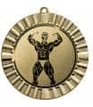 "Medaille ""Steropes"" Ø 70 mm inkl. Wunschemblem und Kordel - Farbe - gold"