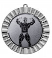 "Medaille ""Steropes"" Ø 70 mm inkl. Wunschemblem und Kordel - Farbe - silber"