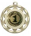 "Danke Medaille ""Okeanos"" Ø 50 mm inkl. Wunschemblem und Kordel - Farbe - gold"