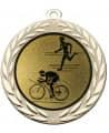 "Medaille ""Moiren"" Ø 70 mm inkl. Wunschemblem und Kordel - Farbe - gold"
