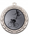 "Medaille ""Moiren"" Ø 70 mm inkl. Wunschemblem und Kordel - Farbe - silber"
