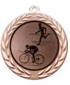 "Medaille ""Moiren"" Ø 70 mm inkl. Wunschemblem und Kordel - Farbe - bronze"
