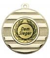 "Medaille ""Keren"" Ø 50 mm inkl. Wunschemblem und Kordel - Farbe - gold"