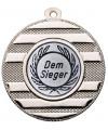 "Medaille ""Keren"" Ø 50 mm inkl. Wunschemblem und Kordel - Farbe - silber"