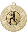 """Danke Medaille """"Ourea"""" Ø 50 mm inkl. Wunschemblem und Kordel - Farbe - gold"""