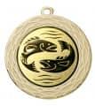 "Medaille ""Uranos"" Ø 70 mm inkl. Wunschemblem und Kordel - Farbe - gold"