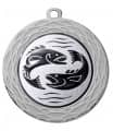 "Medaille ""Uranos"" Ø 70 mm inkl. Wunschemblem und Kordel - Farbe - silber"