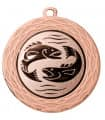 "Medaille ""Thaumas"" Ø 70 mm inkl. Wunschemblem und Kordel - Farbe - bronze"