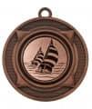 """Medaille """"Nereus"""" Ø 50 mm inkl. Wunschemblem und Kordel - Farbe - bronze"""