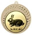 "Medaille ""Keto"" Ø 70 mm inkl. Wunschemblem und Kordel - Farbe - gold"