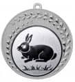 "Medaille ""Keto"" Ø 70 mm inkl. Wunschemblem und Kordel - Farbe - silber"