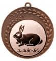 "Medaille ""Keto"" Ø 70 mm inkl. Wunschemblem und Kordel - Farbe - bronze"