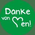 "Danke Emblem ""Danke von Herzen!"" 25mm grün"