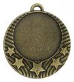 """Medaille """"Pydna"""" Ø 70mm mit Wunschemblem und Band - Farbe - bronze"""