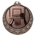 "Basketball Medaille ""Brixia"" Ø 32mm mit Wunschemblem und Band - Farbe - bronze"