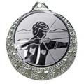 """Bogenschützen Medaille """"Brixia"""" Ø 32mm mit Wunschemblem und Band - Farbe - silber"""