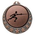 """Fecht Medaille """"Brixia"""" Ø 32mm mit Wunschemblem und Band - Farbe - bronze"""