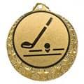 """Golf Medaille """"Brixia"""" Ø 32mm mit Wunschemblem und Band - Farbe - gold"""