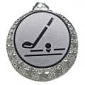 """Golf Medaille """"Brixia"""" Ø 32mm mit Wunschemblem und Band - Farbe - silber"""