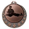 """Karate Medaille """"Brixia"""" Ø 32mm mit Wunschemblem und Band - Farbe - bronze"""