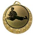 """Karate Medaille """"Brixia"""" Ø 32mm mit Wunschemblem und Band - Farbe - gold"""