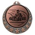 """Kart Medaille """"Brixia"""" Ø 32mm mit Wunschemblem und Band - Farbe - bronze"""