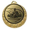 """Kart Medaille """"Brixia"""" Ø 32mm mit Wunschemblem und Band - Farbe - gold"""