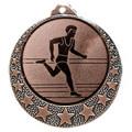 """Lauf Medaille """"Brixia"""" Ø 32mm mit Wunschemblem und Band - Farbe - bronze"""