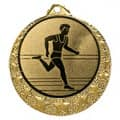 """Lauf Medaille """"Brixia"""" Ø 32mm mit Wunschemblem und Band - Farbe - gold"""