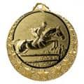 """Reitsport Medaille """"Brixia"""" Ø 32mm mit Wunschemblem und Band - Farbe - gold"""
