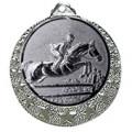 """Reitsport Medaille """"Brixia"""" Ø 32mm mit Wunschemblem und Band - Farbe - silber"""