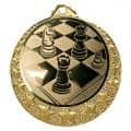 """Schach Medaille """"Brixia"""" Ø 32mm mit Wunschemblem und Band - Farbe - gold"""