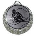 """Ski Medaille """"Brixia"""" Ø 32mm mit Wunschemblem und Band - Farbe - silber"""