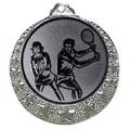 """Tennis Medaille """"Brixia"""" Ø 32mm mit Wunschemblem und Band - Farbe - silber"""