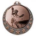 """Tischtennis Medaille """"Brixia"""" Ø 32mm mit Wunschemblem und Band - Farbe - bronze"""