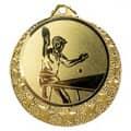 """Tischtennis Medaille """"Brixia"""" Ø 32mm mit Wunschemblem und Band - Farbe - gold"""