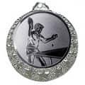 """Tischtennis Medaille """"Brixia"""" Ø 32mm mit Wunschemblem und Band - Farbe - silber"""