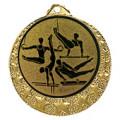 "Turn Medaille ""Brixia"" Ø 32mm mit Wunschemblem und Band - Farbe - gold"