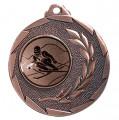 """Ski Medaille """"Cava"""" Ø 50mm mit Wunschemblem und Band - Farbe - bronze"""