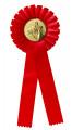 Schleife G100 Einfache Rosette 115mm - Farbe - rot