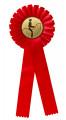 Schleife G101 Einfache Rosette 100mm - Farbe - rot