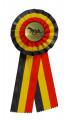 Schleife G107 Länderrosette 105mm - Farbe - belgisch (schwarz-gelb-rot)