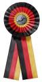Schleife G108 Länderrosette 170mm - Farbe - deutsch (schwarz-rot-gold)