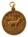 """Jagdmedaille """"Hirsch"""" - Ausführung - bronze"""