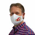 Wiederverwendbare Mund- und Nasenmaske mit Narrenkappe - für Herren - Farbe - rot