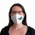 Wiederverwendbare Mund- und Nasenmaske mit Narrenkappe - für Damen & Kinder - Farbe - blau