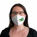 Wiederverwendbare Mund- und Nasenmaske mit Narrenkappe - für Damen & Kinder - Farbe - grün